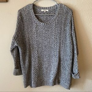 Madewell Knitted High Low Cotton blend Sweater M